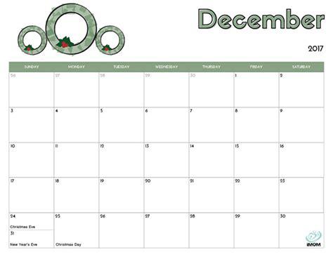 printable december calendar for kindergarten 2017 printable calendar for kids imom