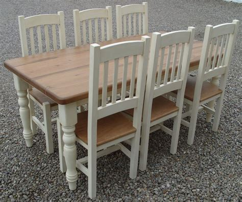 Farmhouse Kitchen Table Set Farmhouse Refectory Table Set