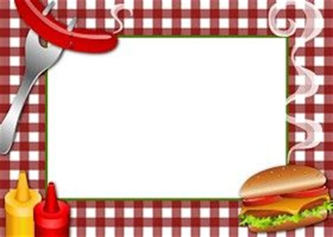 Bbq Picnic Invitations Free Printable Template | Clipart ... Bbq Border Clip Art Free