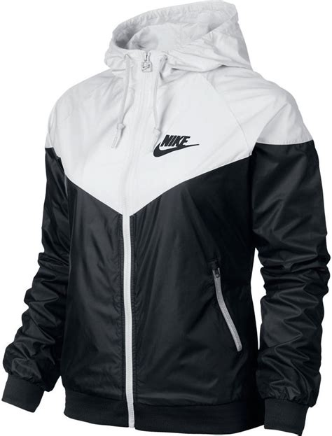 nike windbreaker nike windrunner women s jacket hoodie black white 545909