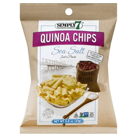 Simply7 Quinoa Salt Vinegr simply 7 snacks simply7 quinoa chips sea salt 0 8 ounce bags pack of 24 jet
