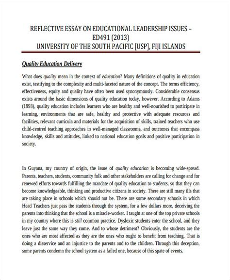 reflective essay template 8 free word pdf documents download