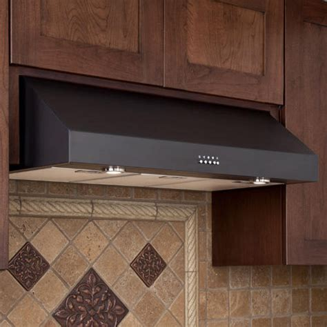 30 inch under cabinet range hood 30 quot fente series stainless steel black under cabinet range