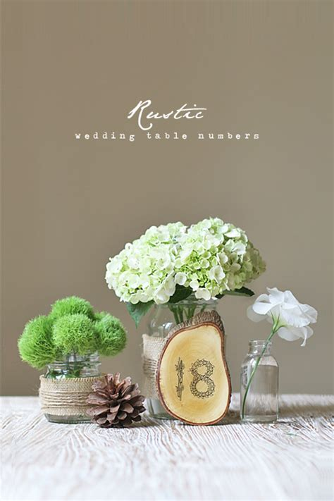 diy rustic chic wedding centerpieces diy rustic wedding table numbers 187 eat drink chic