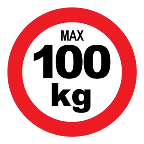 sticker max 100 kg stickerpoint