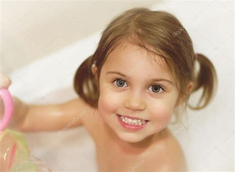 cute girls in bathroom little girl take bath stock photo 169 annaomelchenko 19671275