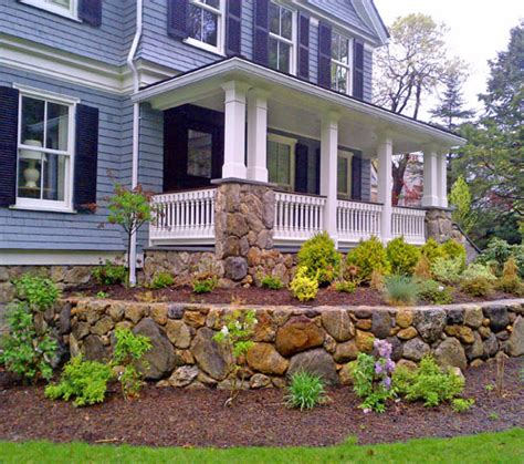 Landscaper Weston Ma 187 Custom Wood Porch Railings In Weston Ma