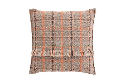 gl big cushion tartan terracotta gan rugs