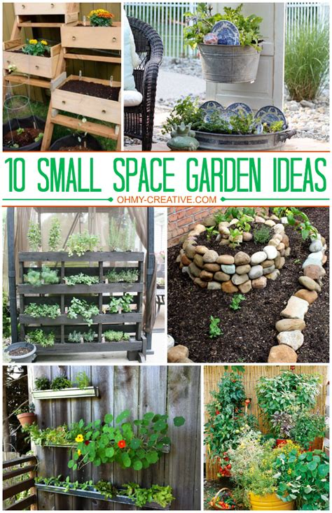 10 Small Space Garden Ideas And Inspiration The Girl Ideas For Small Garden Spaces