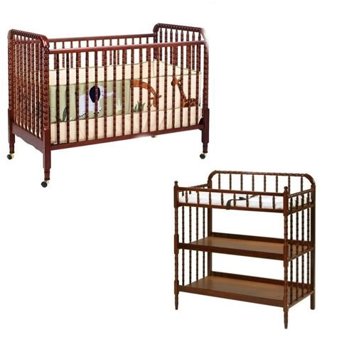 Davinci Jenny Lind 3 In 1 Convertible Crib With Changing Cherry Wood Crib With Changing Table