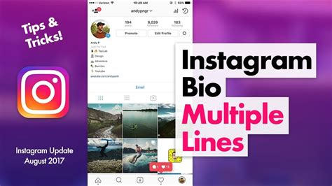 bio instagram tricks how to edit instagram bio multiple lines tips tricks