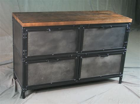 reclaimed wood file cabinet combine 9 industrial furniture industrial file cabinet