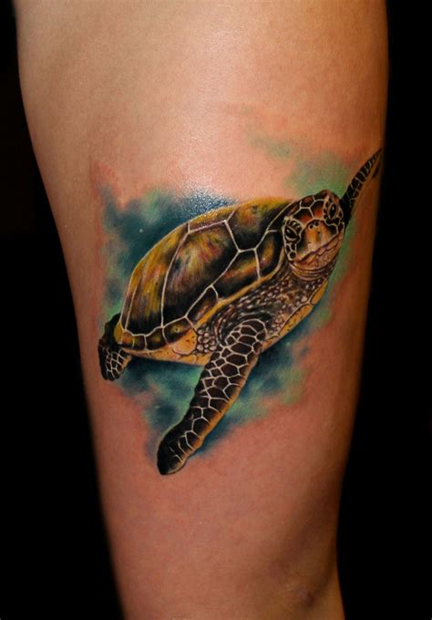 sea life tattoos designs sea turtle by chris 51 of area 51 in