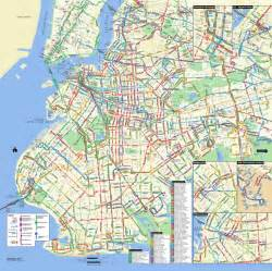 Map Of Brooklyn New York by Large Detailed Brooklyn Bus Map Nyc New York City
