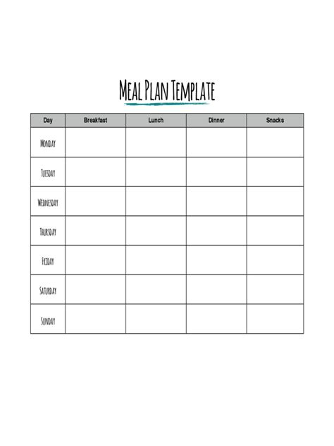 meal plan template word 2 meal planner template 7 free templates in pdf word excel download