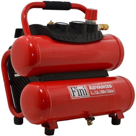 shop fini 3 gallon portable electric stack air compressor at lowes
