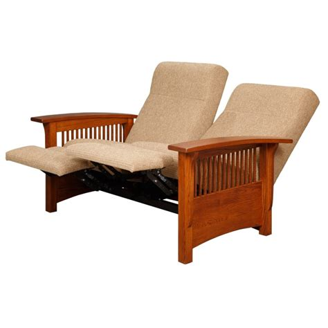 mission recliner mission reclining love seat amish mission reclining love
