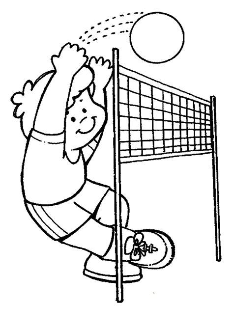 dibujos niños jugando voleibol im 225 genes para pintar de voleibol colorear im 225 genes