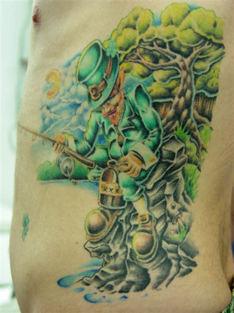 leprechaun tattoos for men wonderful fishing leprechaun for tattooshunt