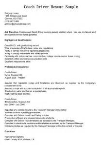 Class B Cdl Driver Cover Letter by Driver Resumes Coach Driver Resume Sle