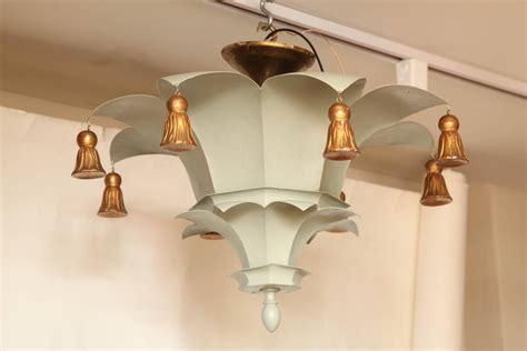 Painted Ceiling Lights by Painted Tole Ceiling Light With Bell Tassels At 1stdibs
