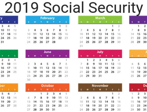 social security payment schedule optimize  retirement calendar template