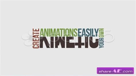 after effects template free kinetic typography pack download videohive typopro typography pack title animation