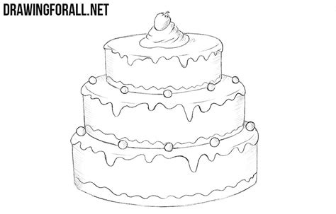 how to draw a cake drawingforall net