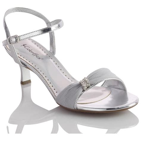 silver dress sandals with low heel low heel sandals