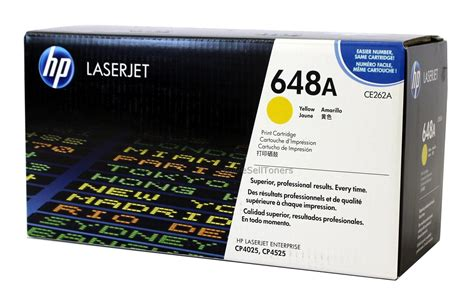 Toner Hp 648a Black Original hp ce262a yellow toner cartridge 648a genuine new ebay