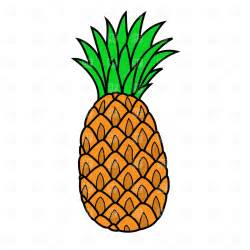 121 pineapple silhouette tiny clipart