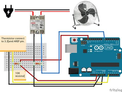 ARDUINO ? SOLID STATE RELAY FAN ventilator control using the w1209 thermistor and SSR 25 DA