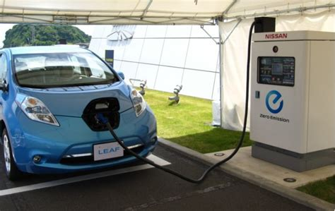 nissan leaf charging station as battery cost falls fast charging becomes key electric