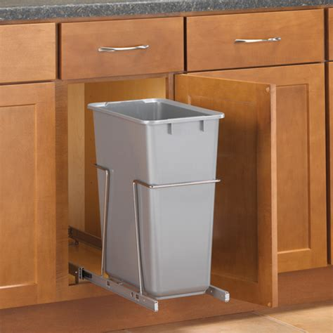 Kitchen Cabinet With Trash Bin by Pull Out Cabinet Trash Can 30 Quart In Cabinet Trash Cans