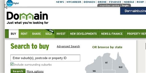 domain real estate houses for sale property websites listing australian property market