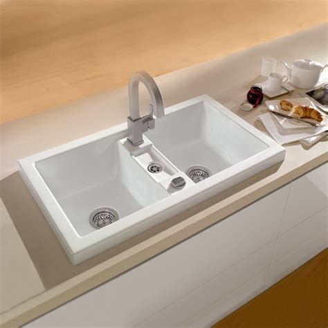ceramic sinks kitchen metric art 90 ceramic butler kitchen sink just bathroomware