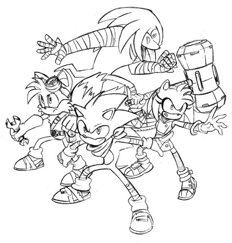 sonic boom coloring pages sonic boom free colouring pages