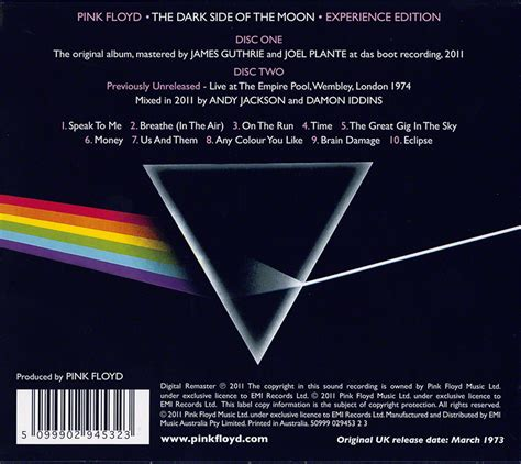 pink floyd archives australian cd discography