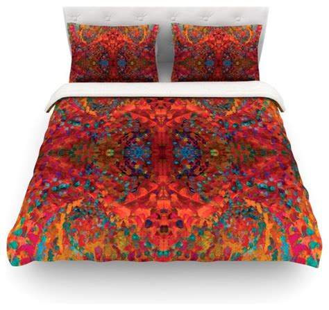 nikposium quot sea quot orange abstract cotton duvet cover