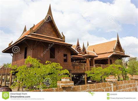 the thai house old thai house stock photos image 22592233