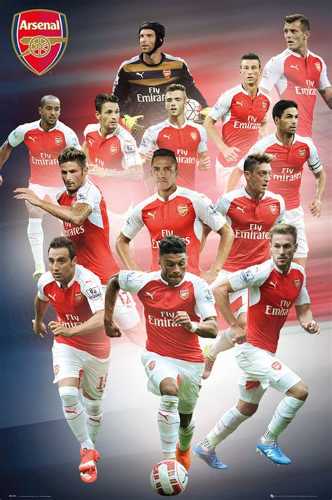 Poster Football Arsenal Fa15 arsenal players 15 16 maxi poster for only 163 4 15 at merchandisingplaza uk
