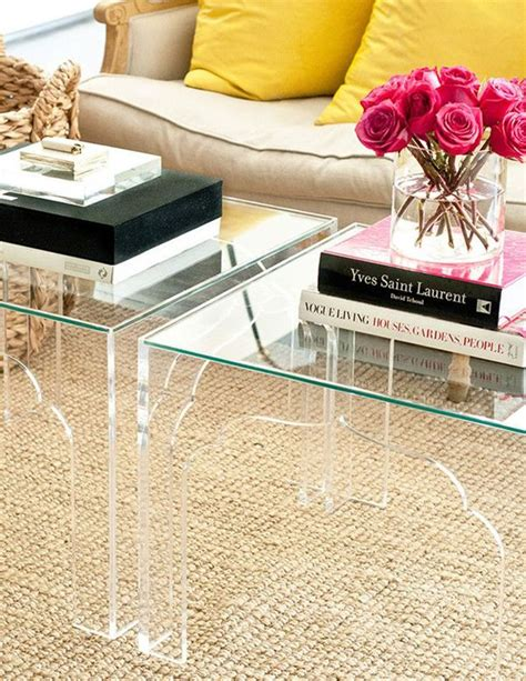 see through coffee table 20 amazing acrylic furniture to maximize your space