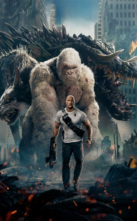 rampage  official poster hd  wallpaper
