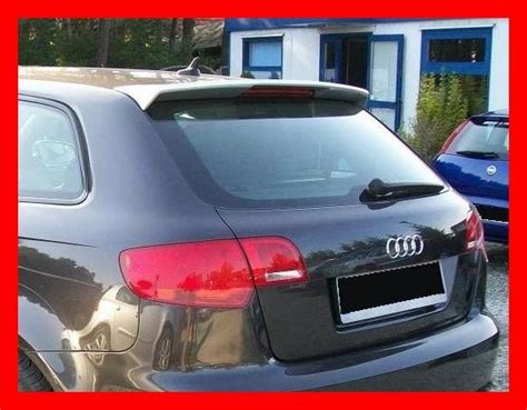 audi a3 roof spoiler audi a3 8p sportback rear roof spoiler tuning gt ebay