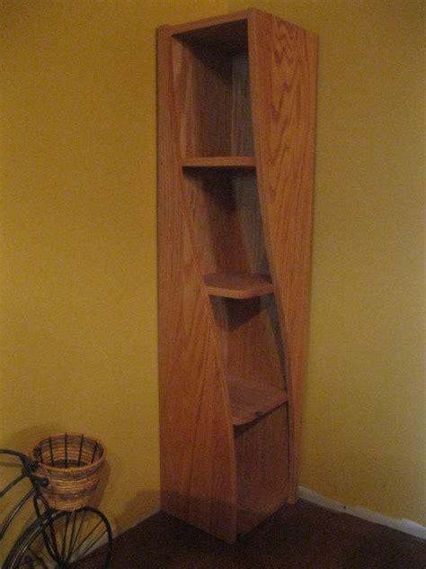 Solid Oak Corner Shelf by Corner Shelf With A Twist Cool Corner Shelf Designed To