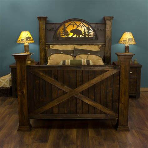 barn wood bedroom furniture 9 best images about log headboards on pinterest log