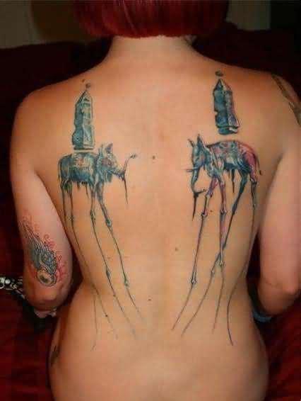 full body elephant tattoo dali elephant tattoos on upperback tattooshunt com