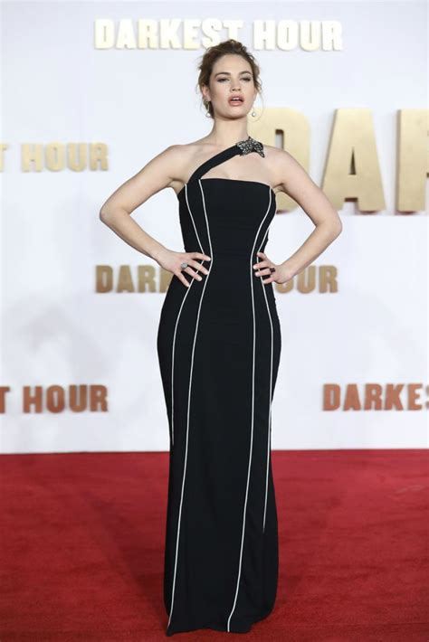 darkest hour premiere lily james at darkest hour premiere in london celebzz