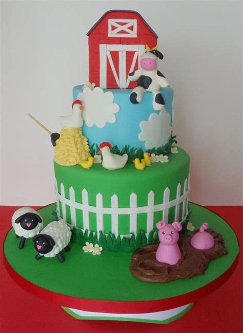 Animal Baby Shower Cake Ideas by Farm Animal Baby Shower Cakes Baby Shower Farm Animals