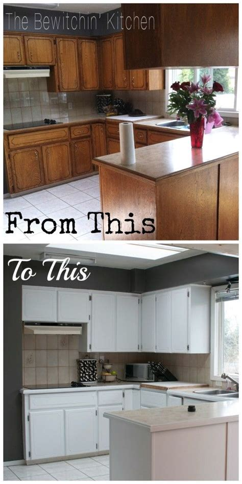 How To Paint My Kitchen Cabinets Painting Kitchen Cabinets How I Transformed My 1970 S Oak Cabinets